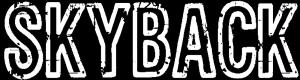 """Logo der Band """"Skayback"""", Schriftzug auf einfachem Hintergund"""
